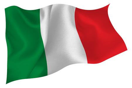 bandera italia: Bandera de bandera italiana Vectores