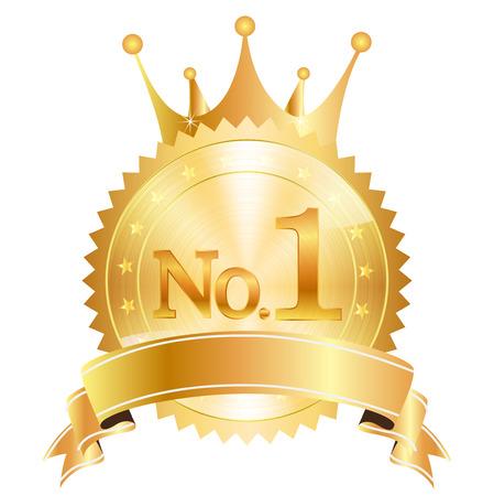 Crown medal icon 向量圖像