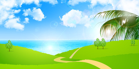 coastal: Sea sky background Illustration