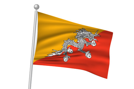 bhutan: Bhutan flag flag Illustration