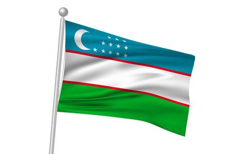uzbekistan: Uzbekistan national flag flag Illustration