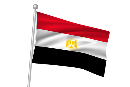 egypt flag: Egypt flag flag Illustration