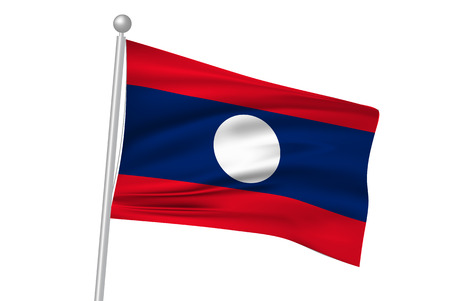 laos: Laos national flag flag Illustration