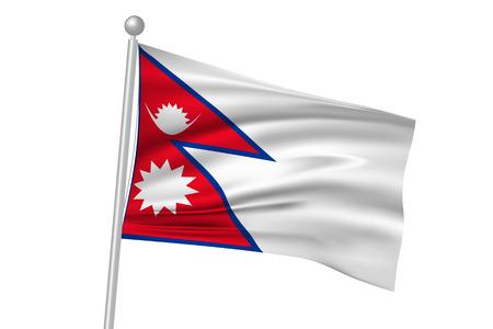 ネパールの国旗の旗  イラスト・ベクター素材