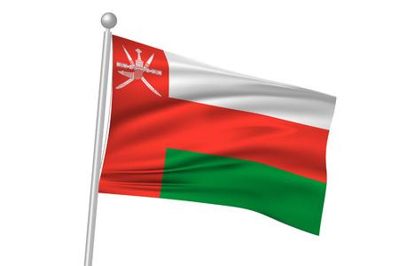 oman: Oman flag flag Illustration