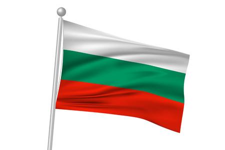 bulgaria: Bulgaria flag flag Illustration