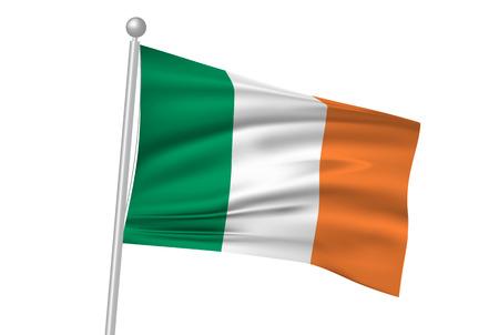 ireland flag: Ireland flag flag Illustration