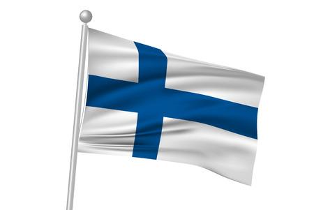 bandera de finlandia: Finlandia Ilustraci�n bandera flagStock