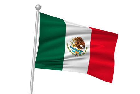 멕시코 국기 플래그 일러스트