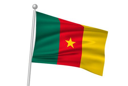 cameroon: Cameroon national flag flag Illustration