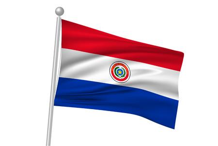 Paraguay: Paraguay drapeau drapeau national Illustration