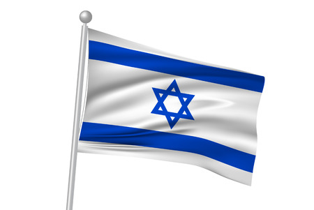 israel flag: Israel flag flag Illustration
