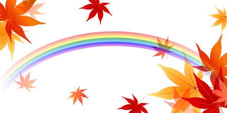 rainbow background: Maple rainbow background