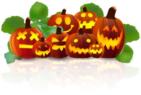 31: Halloween pumpkin icon Illustration