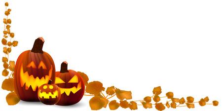 calabazas de halloween: Fondo de calabaza de Halloween  Vectores