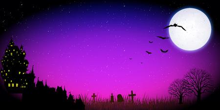 harvest moon: Halloween night background