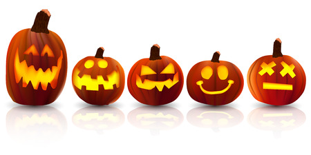 october 31: Halloween pumpkin icon Illustration