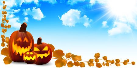 october 31: Halloween pumpkin sky