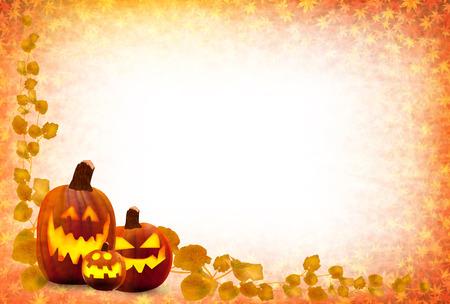 halloween background: Halloween pumpkin maple Illustration