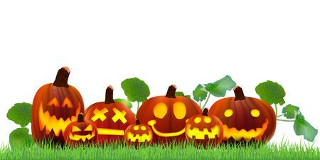 october 31: Halloween pumpkin maple Illustration
