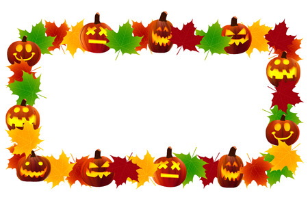 Halloween pumpkin frame Illustration