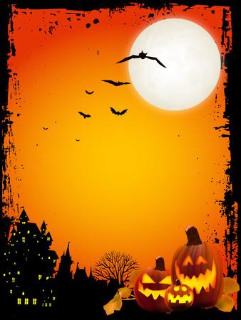 Fondo de calabaza de Halloween  Foto de archivo - 42020294