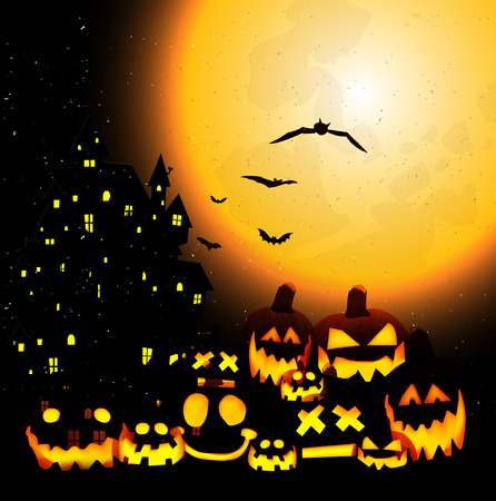 halloween background: Halloween pumpkin background