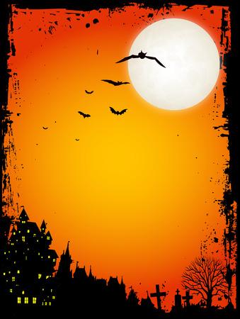Halloween-Nacht Himmel Hintergrund Standard-Bild - 42020461