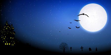 31: Halloween night sky background