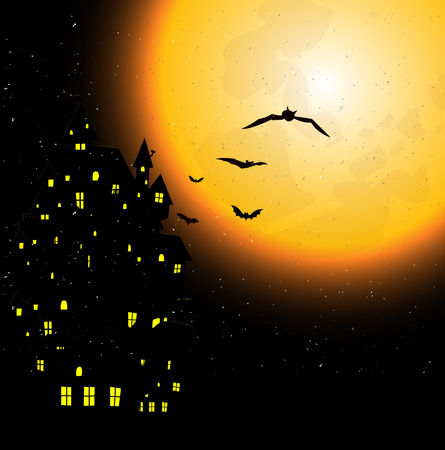 halloween background: Halloween night sky background