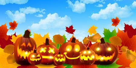 31: Halloween pumpkin maple Illustration