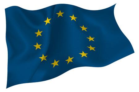 EU flag European Union Vektorové ilustrace