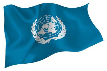 nações: Bandeira das Nações Unidas Nações Unidas Ilustração