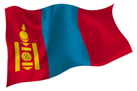 mongolia: Mongolia Flag icon Illustration