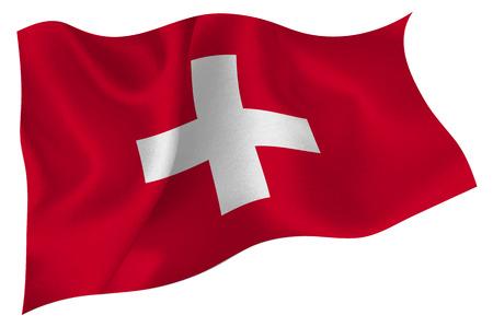 スイスの国旗アイコン  イラスト・ベクター素材