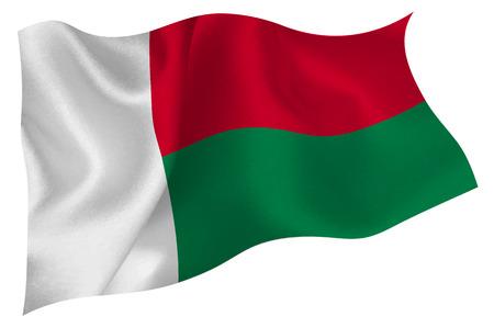 madagascar: Madagascar National flag Flag Illustration