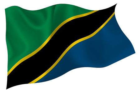 Tanzania National flag Flag Illustration