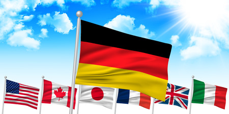 paul: G7 Germany flag Illustration