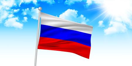 bandera rusia: Rusia fondo de la bandera