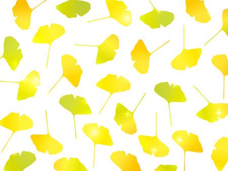 ginkgo: Ginkgo autumn leaves background Illustration