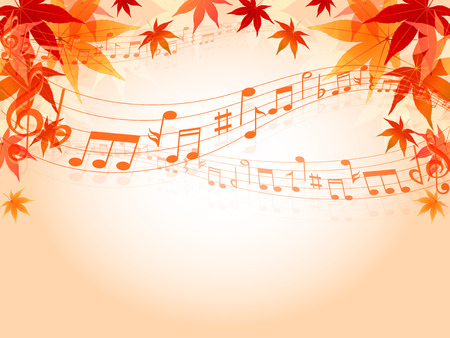 Maple autumn leaves note