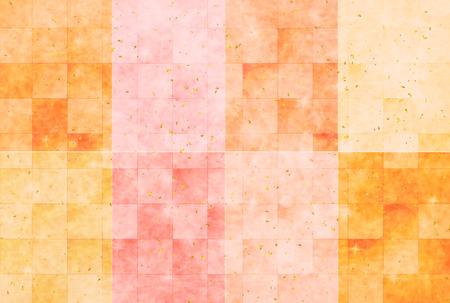 japanese paper: Autumn Japanese paper background Illustration