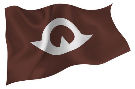 prefecture: Yamaguchi  Flag icon Illustration