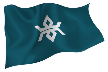 Iwate  Flag icon 일러스트