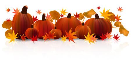 Halloween pumpkin maple Ilustracja