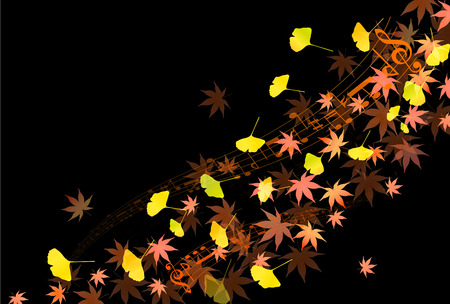 ginkgo: Maple foliage ginkgo