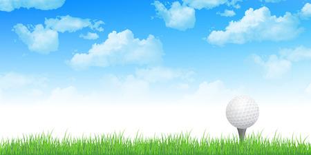 高尔夫天空背景