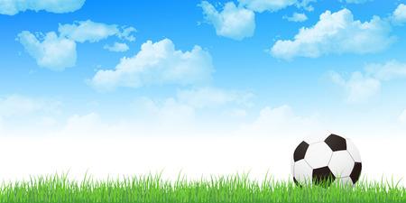 soccer background: Soccer sky background