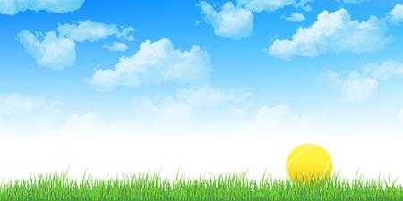 テニス空の背景