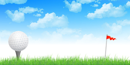 sports vector: Golf sky background